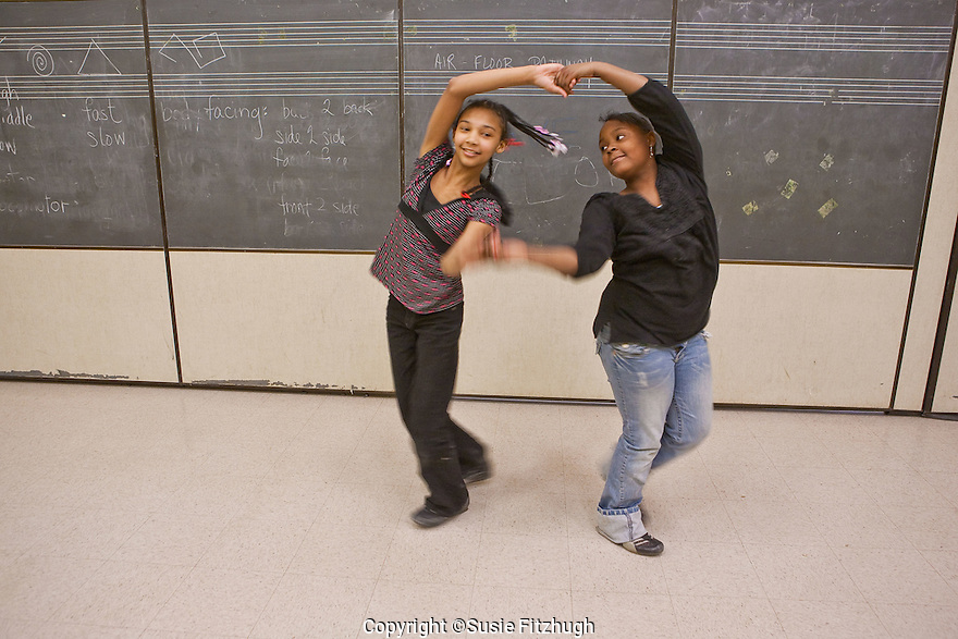 Carla Morena and her Planet Rhythm class at Bailey Gatzert's afterchool YMCA program. Carla combines Dance, Music, Poetry into her classes.