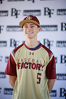 Zachary Fritts (5) of Lenoir City High School in Lenoir City, Tennessee during the Baseball Factory All-America Pre-Season Tournament, powered by Under Armour, on January 12, 2018 at Sloan Park Complex in Mesa, Arizona.  (Zachary Lucy/Four Seam Images)