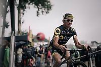sign-on podium for Thomas Voeckler (FRA/Direct Energie)<br /> <br /> 104th Tour de France 2017<br /> Stage 12 - Pau › Peyragudes (214km)