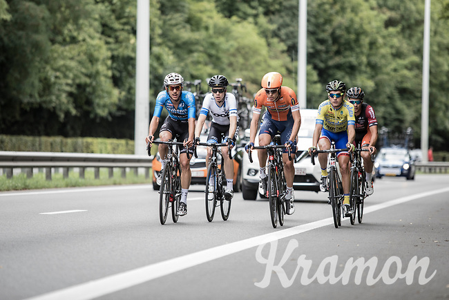 Early break away group<br /> <br /> 51th GP Jef 'Poeske' Scherens 2017 <br /> Leuven - Leuven (13local laps/153.7km)