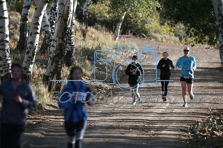 10K runners compete in the 8th annual Take it to the Lake race at Cave Lake State Park, near Ely, Nev., on Saturday, Sept. 21, 2019.<br /> Photo by Cathleen Allison/Nevada Momentum