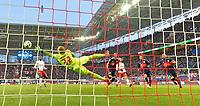18.03.2018,  Football 1.Liga 2017/2018, 27. match day, RB Leipzig - FC Bayern Muenchen, in Red Bull Arena Leipzig. Sandro Wagner (3.v.re, FC Bayern Muenchen) erzielt hier das 1:0  -  goalkeeper Peter Gulacsi (li, RB Leipzig). *** Local Caption *** © pixathlon<br /> <br /> Contact: +49-40-22 63 02 60 , info@pixathlon.de