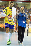 Bosnia Herzegovina's Nikola Prce (l) with his coach Bilal Suman during 2018 Men's European Championship Qualification 2 match. November 2,2016. (ALTERPHOTOS/Acero)