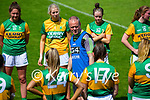 Declan Quill Kerry Ladies Manager talks to the team after  the Lidl Ladies National Football League Division 2A Round 2 at Austin Stack Park, Tralee on Sunday.