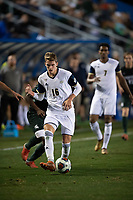 Santa Barbara, CA - Friday, December 7, 2018:  Akron men's soccer defeated Michigan State 5-1 in a semi-final match in the 2018 College Cup.  Akron's Colin Biros advances the ball.
