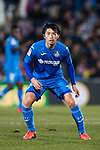 Gaku Shibasaki of Getafe CF gestures during the La Liga 2017-18 match between Getafe CF and Athletic Club at Coliseum Alfonso Perez on 19 January 2018 in Madrid, Spain. Photo by Diego Gonzalez / Power Sport Images