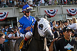 June 8, 2013. Belmont contender Incognito, Irad Ortiz Jr. up, enters the track for the post parade. Palace Malice, Mike Smith up, wins the Belmont Stakes at Belmont Park, Elmont, New York. Trainer is Todd Pletcher (Joan Fairman Kanes/Eclipse Sportswire)