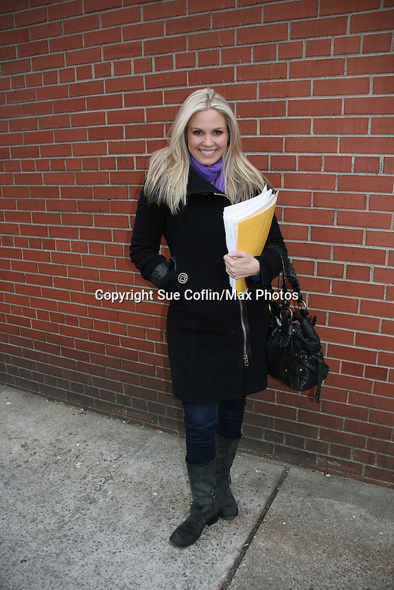 Terri Colombino - outside the As The World Turns Studios on February 5, 2010 in Brooklyn, New York. (Photo by Sue Coflin/Max Photos)