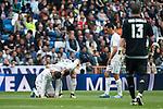 Real Madrid's Nacho, Jese Rodriguez and Alvaro Arbeloa  during La Liga match. April 09, 2016. (ALTERPHOTOS/Borja B.Hojas)