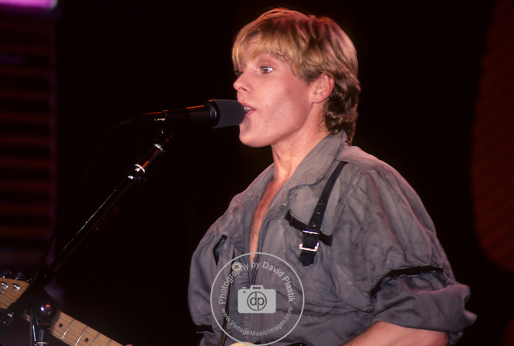 Dave Wakeling of General Public performing live in 1984 at The Ritz in NYC, NY