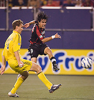 The Revolution's James Riley. The New England Revolution defeated the MetroStars 4 to 2 at Gillette Stadium, Foxbourgh, MA, on June 25, 2005.