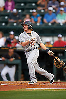 Lakeland Flying Tigers second baseman Jared Reaves (12) at bat during a game against the Bradenton Marauders on April 16, 2016 at McKechnie Field in Bradenton, Florida.  Lakeland defeated Bradenton 7-4.  (Mike Janes/Four Seam Images)