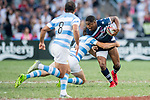 Argentina and USA during their Plate Final match as part of the HSBC Hong Kong Rugby Sevens 2018 on 08 April 2018, in Hong Kong, Hong Kong. Photo by Chung Yan Man / Power Sport Images