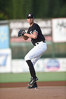 Alec Hansen (51) of the Kannapolis Intimidators in action against the Columbia Fireflies at Kannapolis Intimidators Stadium on August 26, 2016 in Kannapolis, North Carolina.   (Don Kelly/Four Seam Images)