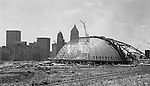 Pittsburgh PA: Pittsburgh's Civic Arena Construction from 1960 thru 1961.  On location photography for the Civic Light Opera,  the building's primary tenant. Pittsburgh Mayor Joseph M. Barr and Hornets owner John Harris (founder of the Ice Capades) made the skating show the feature act of the Civic Arena's grand opening on September 19, 1961.