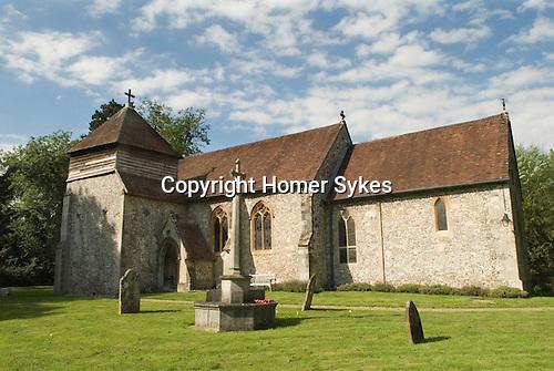 St Swithuns Church Headbourne Worthy Hampshire Uk  Saxon and earlier. 2012 2010s
