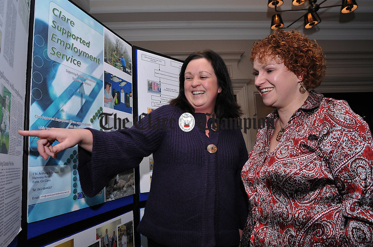 Employment facilitators Marcella Casey and Deirdre Ball from the Clare Supported Employment Service pictured at the launch of the Clare Independent Advocacy Service. Photograph by Declan Monaghan