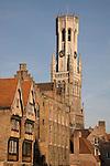 Belfont - Belfry, Bruges; Belgium; Europe