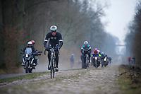 Paris-Roubaix 2013 RECON..Iljo Keisse (BEL) Trouée d'Arenberg reconnaissance.