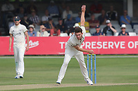 Ryan Higgins in bowling action for Gloucestershire during Essex CCC vs Gloucestershire CCC, LV Insurance County Championship Division 2 Cricket at The Cloudfm County Ground on 6th September 2021