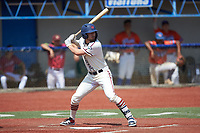 Jeremy Simpson (9) (Catawba) of the High Point-Thomasville HiToms at bat against the Old North State League West All-Stars at Hooker Field on July 11, 2020 in Martinsville, VA. The HiToms defeated the Old North State League West All-Stars 12-10. (Brian Westerholt/Four Seam Images)
