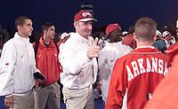 Arkansas Democrat-Gazette/CINDY BLANCHARD<br /><br />Arkansas' John McDonnell wins his eighth straighty NCAA men's outdoor championship at Bronco Stadium in Boise, Idaho Saturday night. <br />6/5/99