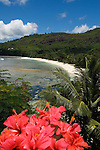 Seychelles, Island Mahe, Baie Lazare, Anse Gaulettes: beach<br />