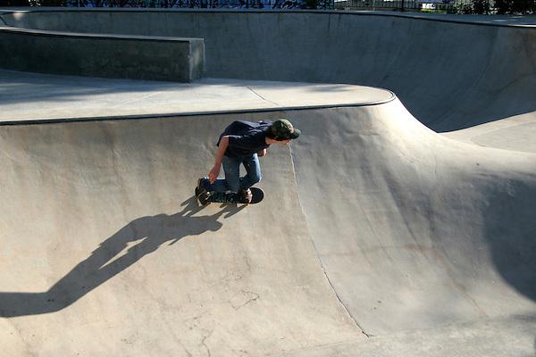 Man skateboarding, Boulder, Colorado,