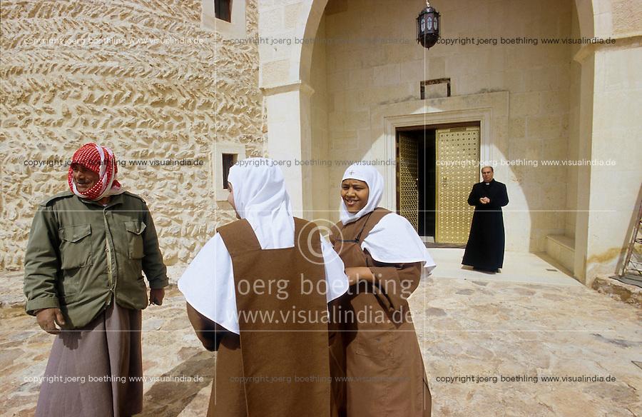SYRIEN Kloster in Qara in der Diozese von Homs, Melkite Greek Catholic monastery of St James the Mutilated in Qara / SYRIA Melkite Greek Catholic monastery of St James the Mutilated in Qara in the dicesese of Homs
