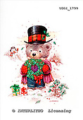GIORDANO, CHRISTMAS ANIMALS, WEIHNACHTEN TIERE, NAVIDAD ANIMALES, Teddies, paintings+++++,USGI1799,#XA#
