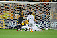 Harry KEWELL (10) of Australia kicks a goal during the FIFA 2014 World Cup Group D Asian Qualifier match between Australia and Saudi Arabia at AAMI Park in Melbourne, Australia...This image is not for sale on this web site. Please contact Southcreek Global Media for licensing:.Toll Free: 1.800.934.5030.Canada: 701 Rossland Rd. East, Suite 315, Whitby, Ontario, Canada, L1N 9K3.USA: 10792 Baron Dr, Parma OH, USA 44130.Web: http://southcreekglobal.net/ and http://southcreekglobal.com/