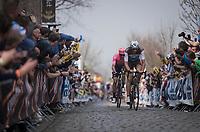 Stijn VANDENBERGH (BEL/AG2R-LaMondiale) up the Oude Kwaremont<br /> <br /> 103rd Ronde van Vlaanderen 2019<br /> One day race from Antwerp to Oudenaarde (BEL/270km)<br /> <br /> ©kramon