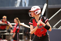 GREENSBORO, NC - MARCH 11: Kara Apato #16 of Northern Illinois University waits for a pitch during a game between Northern Illinois and UNC Greensboro at UNCG Softball Stadium on March 11, 2020 in Greensboro, North Carolina.