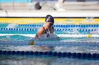 Santa Clara, California - Friday June 3, 2016: Sarah Haase wins the Women's 100 LC Meter Breaststroke in the A finals.