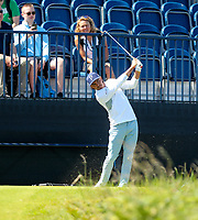 140719 | The 148th Open - Sunday Practice<br /> <br /> Ricky Fowler player into the Par 3 13th during practice for the 148th Open Championship at Royal Portrush Golf Club, County Antrim, Northern Ireland. Photo by John Dickson - DICKSONDIGITAL