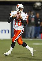 Buck Pierse BC Lions quarterback. Copyright photograph Scott Grant/