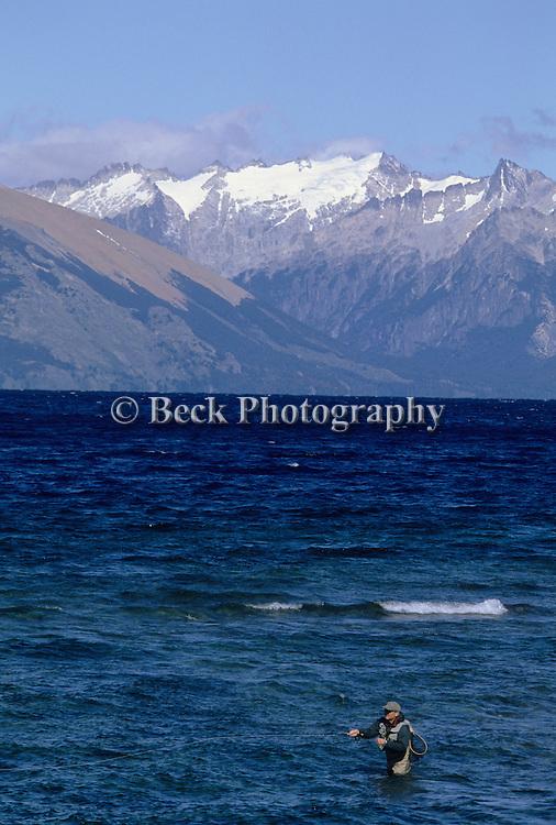 Fresh water fly fishing image
