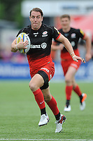 Chris Wyles of Saracens runs in a try during the Aviva Premiership semi final match between Saracens and Leicester Tigers at Allianz Park on Saturday 21st May 2016 (Photo: Rob Munro/Stewart Communications)