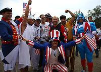 USA Fans at the US Men's National Team vs El Salvador Men's National Team World Cup Qualifier at Rio Tinto Stadium in Salt LakeCity, Utah on September 5, 2009