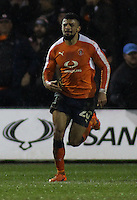 Isaac Vassell of Luton Town celebrates scoring their first goal during the The Checkatrade Trophy Semi Final match between Luton Town and Oxford United at Kenilworth Road, Luton, England on 1 March 2017. Photo by Stewart  Wright  / PRiME Media Images.