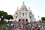 Europa, Frankreich, France, Paris, Montmartre, Sacre Coeur Suare Louise Michel, 07.09.2014