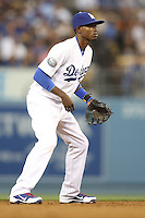 05/09/12 Los Angeles, CA: Los Angeles Dodgers shortstop Dee Gordon #9 during an MLB game played between the San Francisco Giants and Los Angeles Dodgers at Dodger Stadium