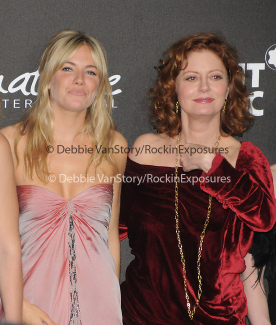 Sienna Miller & Susan Sarandon at The Montblanc Signature for Good Charity Gala benefiting Unicef held at Paramount Studios in Hollywood, California on February 20,2009                                                                     Copyright 2008 Debbie VanStory/RockinExposures