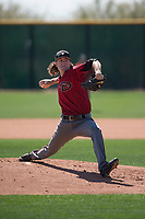 Arizona Diamondbacks relief pitcher Connor Grey (16) delivers a pitch to the plate during a Minor League Spring Training intrasquad game at Salt River Fields at Talking Stick on March 12, 2018 in Scottsdale, Arizona. (Zachary Lucy/Four Seam Images)