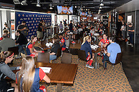 Houston, TX - Thursday Oct. 06, 2016: Washington Spirit players are interviewed  during media day prior to the National Women's Soccer League (NWSL) Championship match between the Washington Spirit and the Western New York Flash at BBVA Compass Stadium.