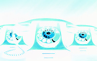 Illustrated picture of a phone, telephone, wire numbers.