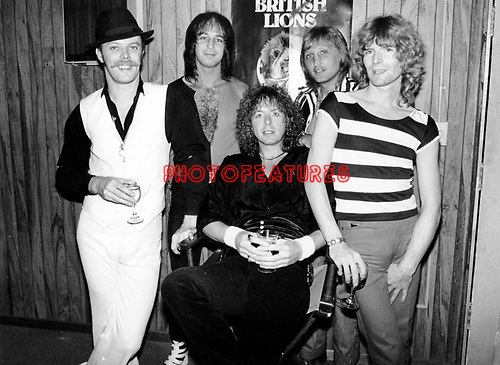 British Lions 1978 Morgan Fisher, Pete Overend Watts, John Fiddler, Dale Griffin and Ray Majors.© Chris Walter.