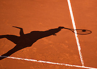 France, Paris, 04.06.2014. Tennis, French Open, Roland Garros,  shadow on the clay court<br /> Photo:Tennisimages/Henk Koster