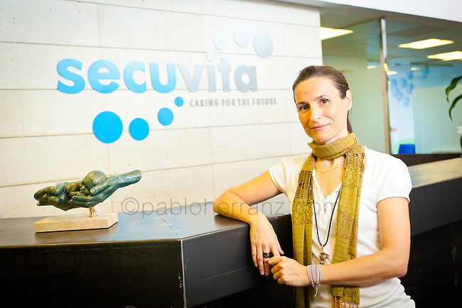 Teresa Rebate Conde at SECUVITA offices in Madrid.