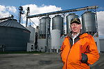 Clarkson Grain founder and president Lynn Clarkson, shown at the company's processing plant near Cerro Gordo, Ill., where they prepare non-GMO corn for food processors. Food companies' move toward non-genetically modified ingredients has increased demand for the limited supply of non-GMO crops.<br /> Kristen Schmid for the New York Times